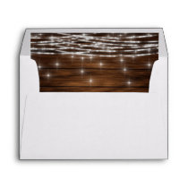 String lights wood envelope