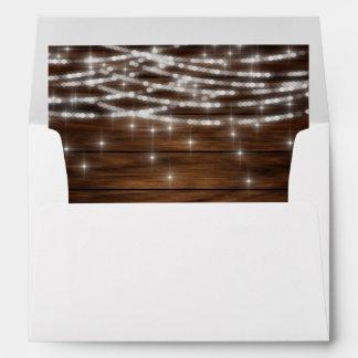 String lights wood envelope