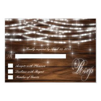 String lights wood RSVP Cards II