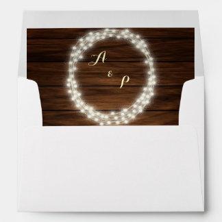 String lights wreath envelope envelope