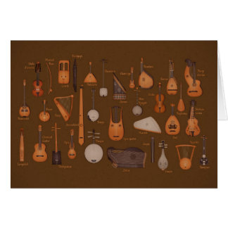 String Musical Instruments Greeting Card