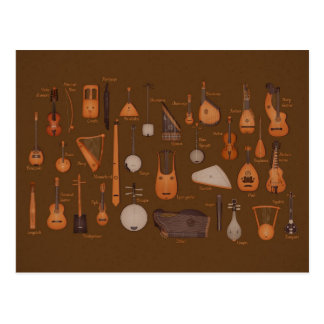 String Musical Instruments Postcard