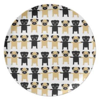 String O' Pugs Dinner Plate