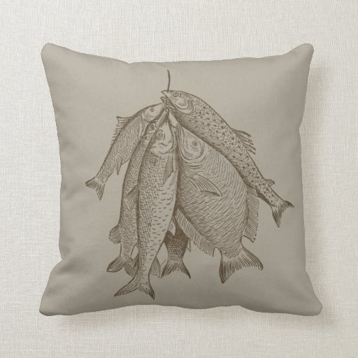 String Of Fish Throw Pillow Zazzle