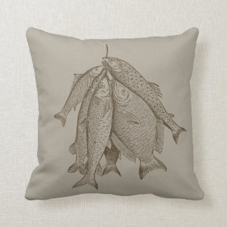String Of Fish Throw Pillows