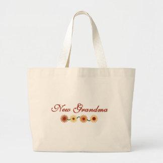 String of Flowers New Grandma Large Tote Bag