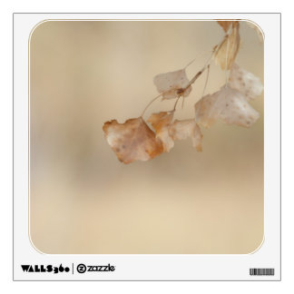 string of golden leaves wall decal