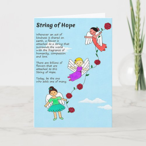String of Hope Greeting Card