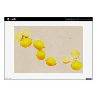 String of Lemons On Vintage Background Laptop Decal