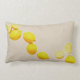 String of Lemons On Vintage Background Lumbar Pillow