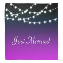 String Of Lights Aglow Borealis Wedding Bandana