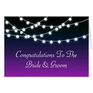 String Of Lights Aglow Borealis Wedding Card
