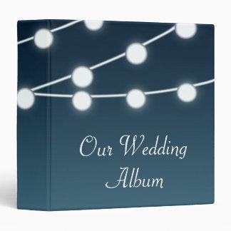 String Of Lights Aglow Romantic Wedding 3 Ring Binder
