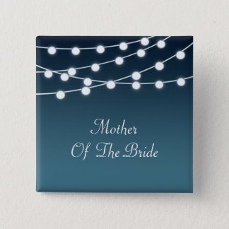 String Of Lights Aglow Romantic Wedding Button