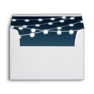 String Of Lights Aglow Romantic Wedding Envelope