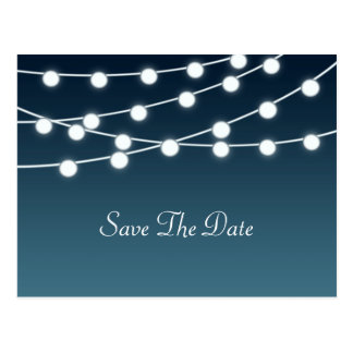 String Of Lights Aglow Romantic Wedding Postcard