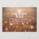 "string of lights blush rustic save the date cards<br><div class=""desc"">Romantic modern and rustic save the date card with fireflies</div>"