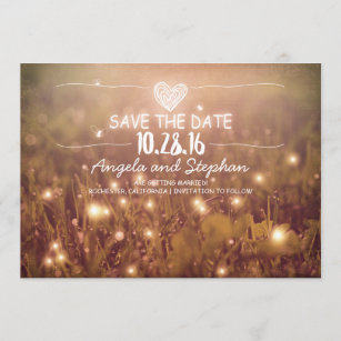 rustic save the date cards zazzle