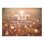 String Of Lights Blush Rustic Save The Date Cards at Zazzle
