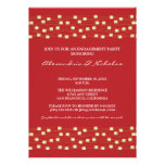 String of Lights Engagement Party Invitation (red)