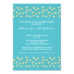 String of Lights Engagement Party Invite (aqua)