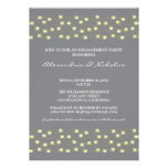 String of Lights Engagement Party Invite (grey)
