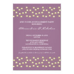 String of Lights Engagement Party Invite (lilac)