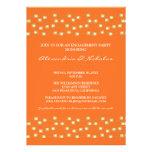 String of Lights Engagement Party Invite (orange)