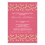 String of Lights Engagement Party Invite (rose)