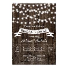 String of lights on old wood wedding bridal shower 5