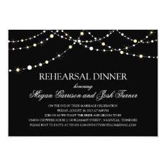 String of Lights Rehearsal Dinner 5x7 Paper Invitation Card at Zazzle