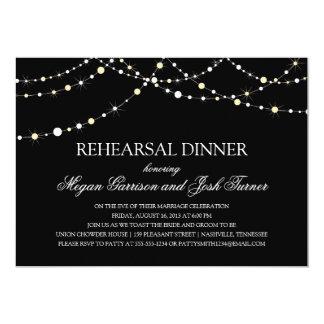 String of Lights Rehearsal Dinner 5x7 Paper Invitation Card