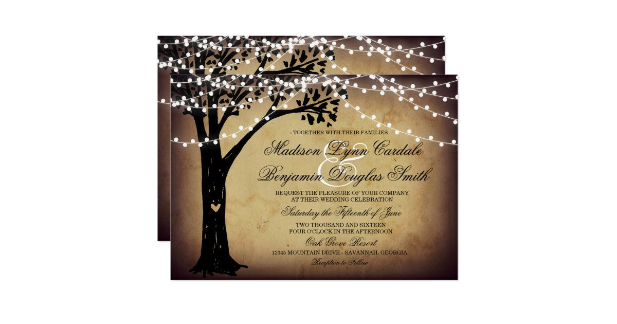 Tree Wedding Invitations – gangcraft.net