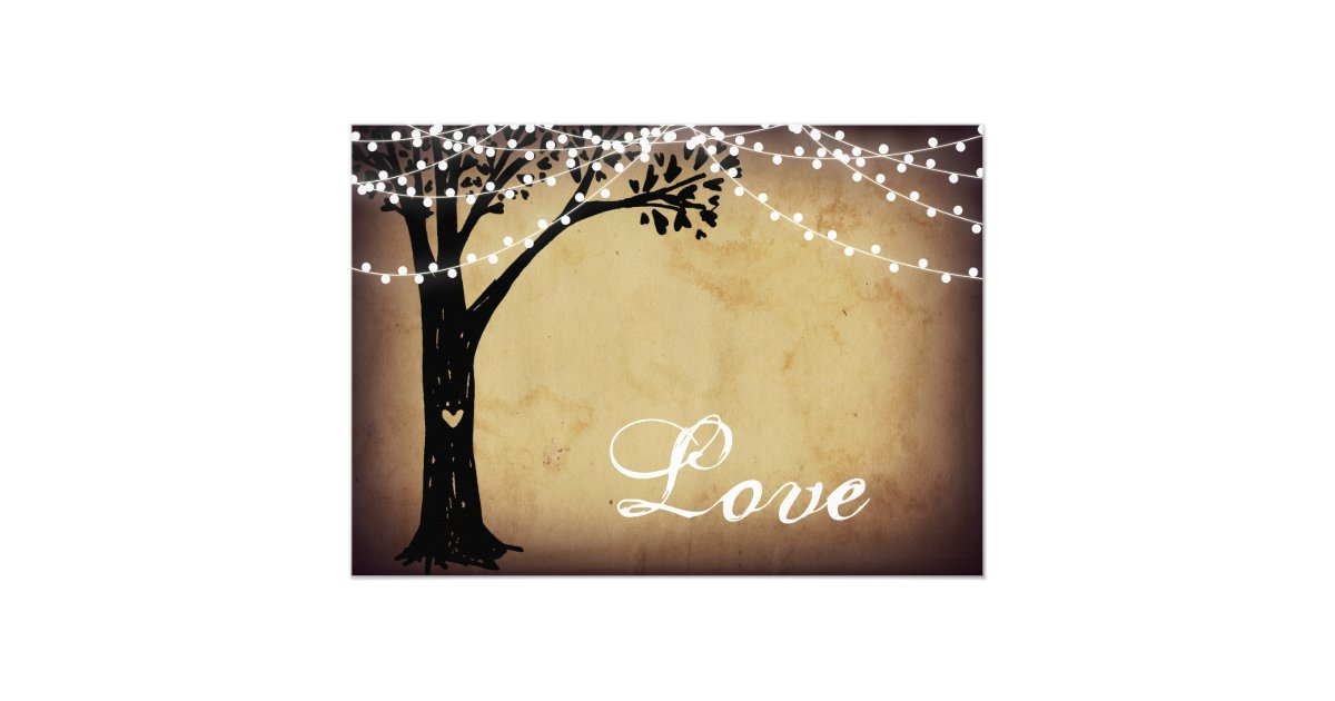 Zazzle String Lights : String of Lights Rustic Oak Tree Wedding Invites Zazzle
