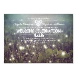 string of lights rustic wedding invitation 5