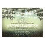 "string of lights rustic wedding invitation 5"" x 7"" invitation card"