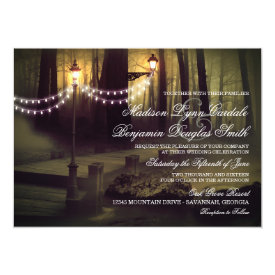 String of Lights Rustic Wedding Invitations 4.5