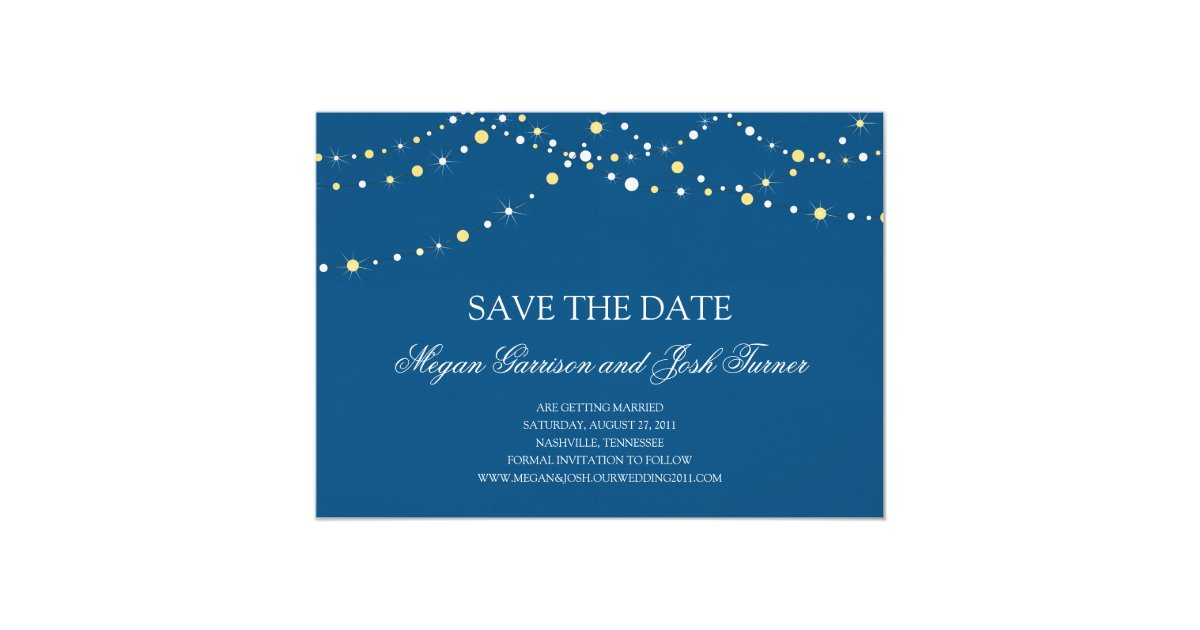 String of Lights Save the Date Card Zazzle