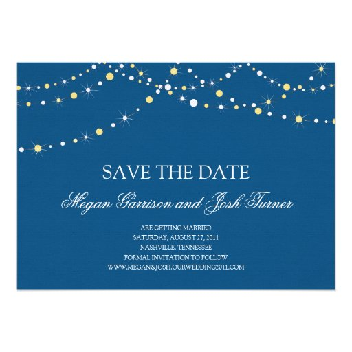 String of Lights Save the Date 5x7 Paper Invitation Card Zazzle