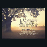 """String of Lights Tree Rustic Vintage Wedding Invitation<br><div class=""""desc"""">Vintage wedding invitation with strings of lights hanging on the branches of the old tree. Rustic wedding invitation for the countryside wedding. --- All design elements created by Jinaiji.</div>"""