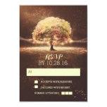 "String of lights tree wedding RSVP cards 3.5"" X 5"" Invitation Card"