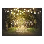 "String of Lights Trees Path Rustic Wedding Invites 5"" X 7"" Invitation Card"