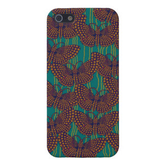 String of Pearls and Butterflies in Orange & Teal Cover For iPhone SE/5/5s