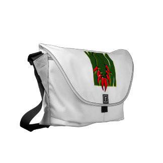 string of red peppers green back courier bags