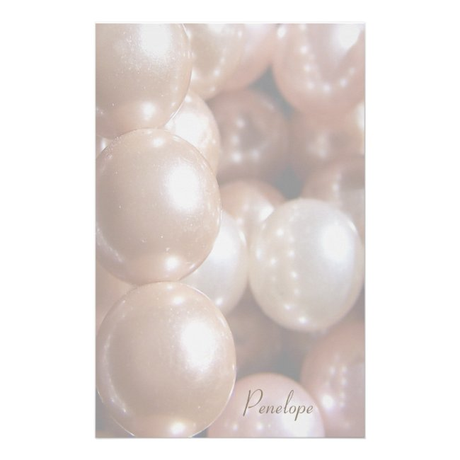 String of Shiny Rose Gold Pearls Add Your Name