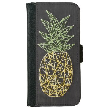 String Pineapple iPhone 6/6s Wallet Case
