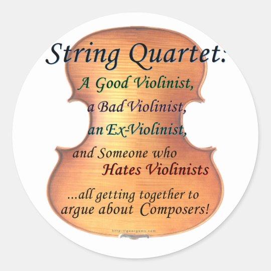 String Quartet definition Classic Round Sticker