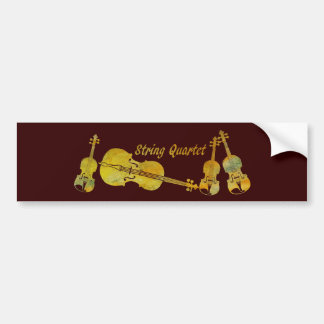 String Quartet in Gold Bumper Sticker