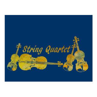 String Quartet in Gold Post Cards