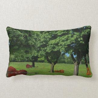 String Quartet in the Woods Lumbar Pillow